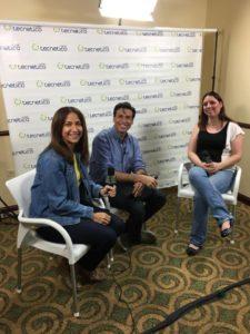 Aquí durante la entrevista en el Puerto Rico Blogger Con